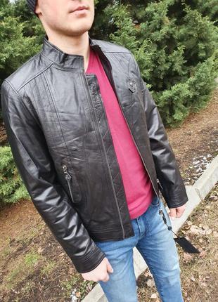 Курточка натуральная кожа овчина лайка турция