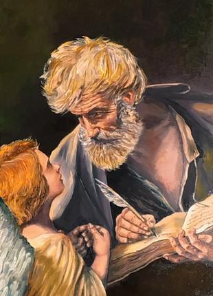 св.апостол Матфей с ангелом. Копия 40*60см