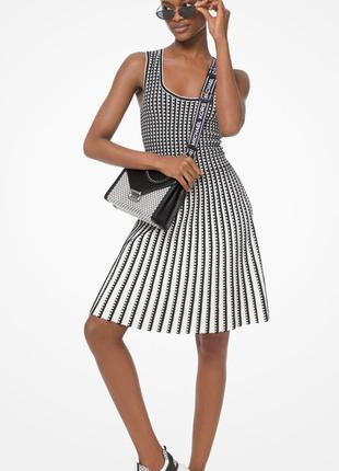 Платье michael kors черно-белое платье майкл корс