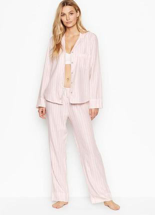 Victoria's secret фланелевая пижама victorias secret рубашка в...