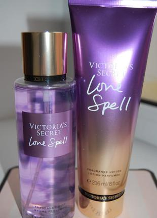 Набор love spell спрей victorias secret fragrance mist лосьон ...