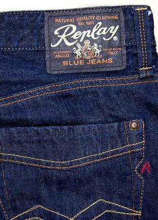 Джинсы replay blue jeans р.34/32 original tunisia