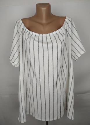 Стильная блуза в полоску большого размера fiore matal uk 22/50...
