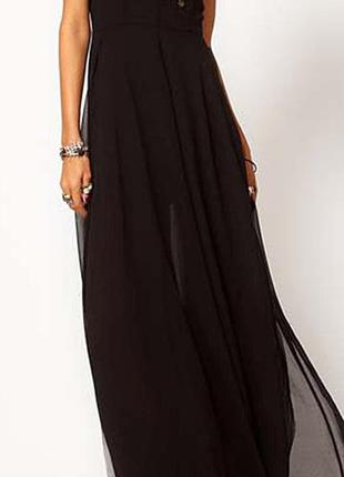 🌹🌹🌹новое черное длинное легкое женское платье, сарафан d&z fas...