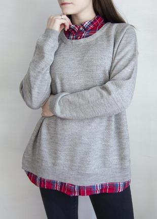 Джемпер с имитацией рубашки в клетку falmer heritage