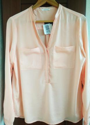 Блуза promod персикового цвета.