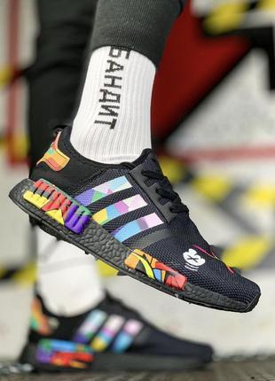 Adidas nmd black мужские кроссовки адидас с ярким и стильным д...