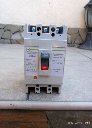 Автоматический выключатель АВ3001/3Н 20А Промфактор