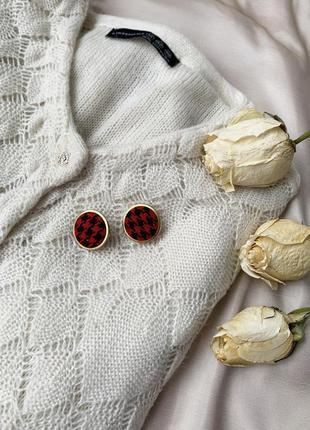Серьги, сережки, кульчики, серьги пуговицы, комбинированные се...