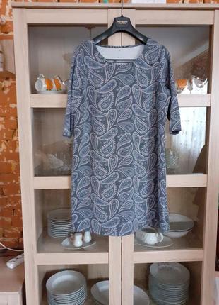 Очень уютное тепленькое платье большого размера