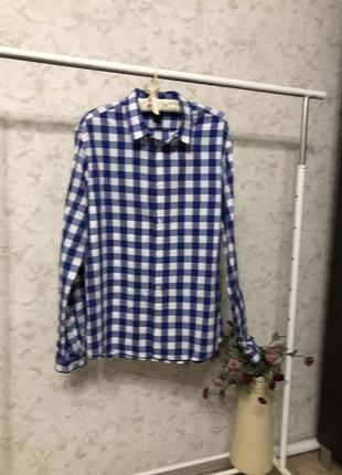 Стильная рубашка в клетку h&m, новая!