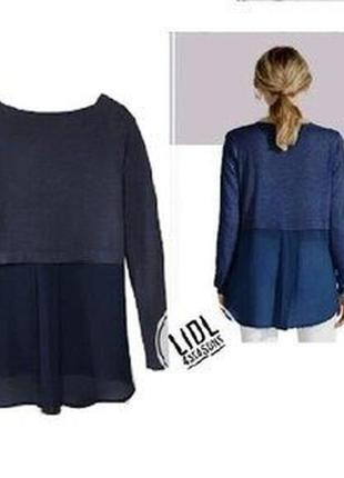 Нежный женский нежный джемпер пуловер с шифоном esmara германия
