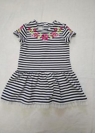Платье с вышивкой на р 92-98 см 2-3 года
