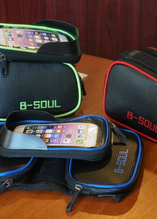 Велосипедная сумка B-Soul на раму c отделом для смартфона