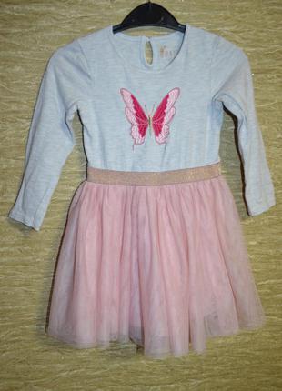 Нарядное платье primark на 2-3 года