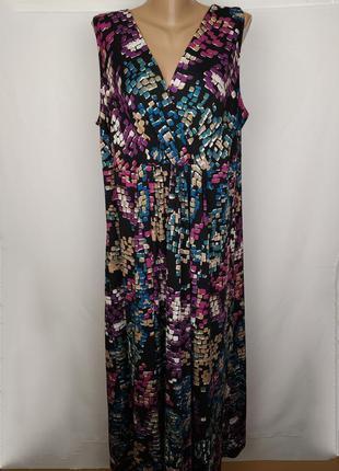 Платье шикарное трикотажное в пол большого размера ann harvey ...