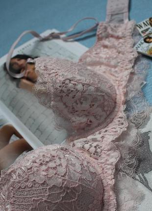 Нежно-розовый бюстгальтер\лифчик  с кружевом 70д