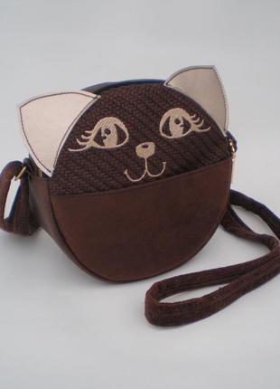 """Акция! круглая сумка кросс-боди, сумка через плечо """"кошечка"""" h..."""