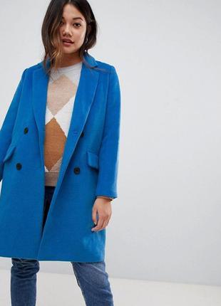 Пальто двубортне трендового кольору 2020 року galaxy blue