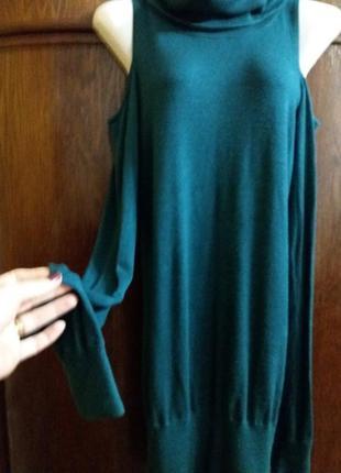 Удлиненный свитер туника-amisu-m с открытыми плечами