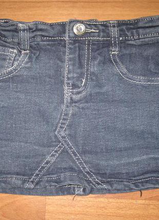 Юбка джинсовая для девочки, на рост 110 см., 3-5 лет. в отличн...