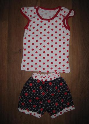 Костюм для девочек, футболка + шорты. на 2- 3 года. в наличии!!!