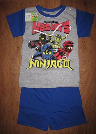 Костюм для мальчика, футболка + шорты. на возраст 1, 2, 3, 4, ...