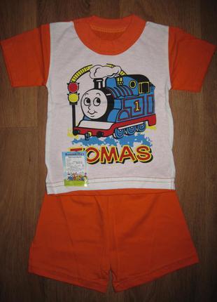 Костюм для мальчика, футболка+ шорты. на возраст 1-2 года. в н...