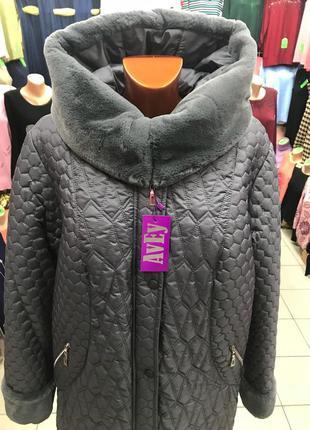 Куртка- пальто женская, зимняя. размер 50, 62 новые! в наличии!