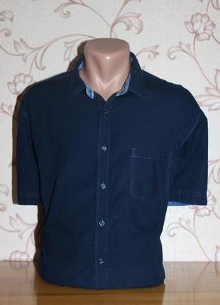 Рубашка мужская. размер xl (см. замеры). livergy. в отличном с...