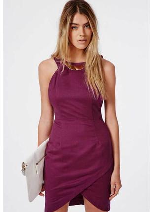Брендовое бордовое вечернее нарядное короткое мини платье miss...