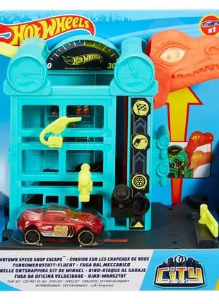 Hot Wheels Speed shop escape бронтозавр динозавр gbf91 city downt