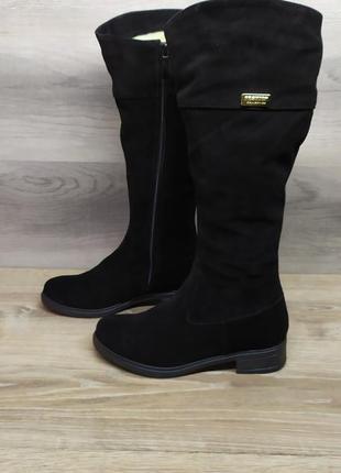 Замшеві зимові чоботи 36 розміру / замшевые зимние сапоги