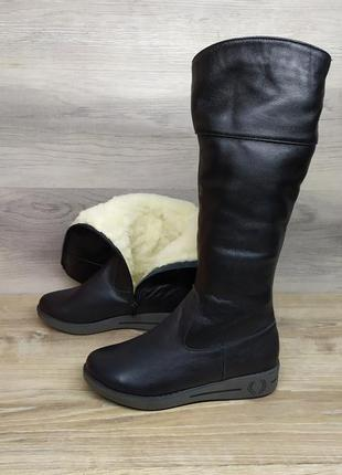 Кожаные зимние сапоги 36 размера / шкіряні зимові чоботи