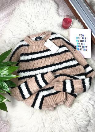 Новый свитер в полоску bershka