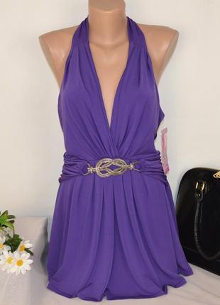 Брендовая фиолетовая блуза туника next шри ланка этикетка