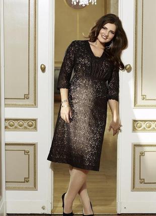 Шикарное вечернее кружевное платье большого размера🔥батал