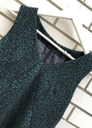 Новое ,фактурное,зеленое платье,сарафан,офисный,next