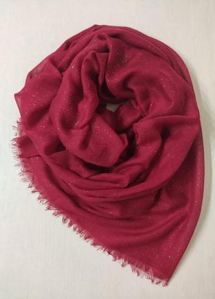 Большой тонкий палантин, шарф с люрексовой нитью
