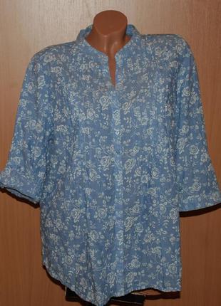 Блуза принтованая бренда bm / 100%хлопок /свободный покрой/