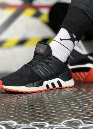 Мужские кроссовки демисезонные adidas eqt black white red