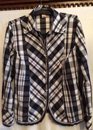 Красивая рубашка,блузка в клетку,хлопок от немецкого бренда se...