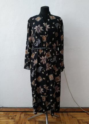 Стильное винтажное платье миди большого размера