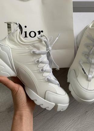 Женские кроссовки белые, шикарные весна-осень d-connect white