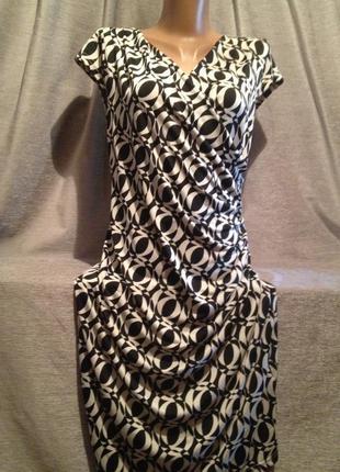 1+1=3 оригинальное платье миди  с принтом.004