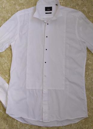 Moss престижная приталенная рубашка slim fit под запонки