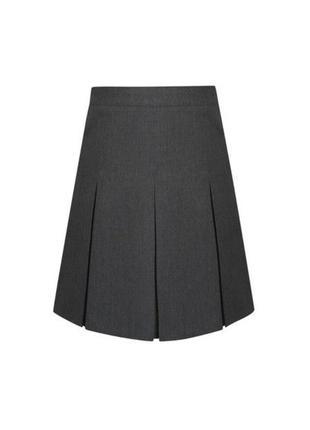 Серая школьная юбка George, 116-122 см