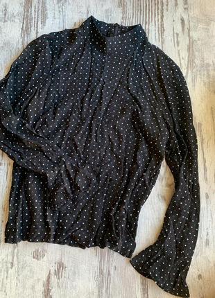 Блуза кофта zara woman в горох