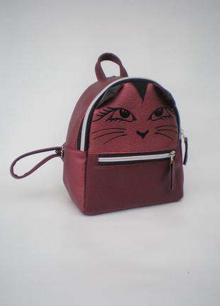 "Милый рюкзак handmade ""вистоухий котик"""