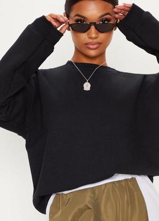 Черный свитер prettylittlething